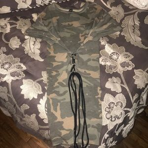 👑 WINDSOR CORSET FRONT CAMO MINIDRESS IN SIZE S
